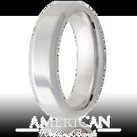 Jewelry Innovations Vitalium® Beveled Edge 6mm Comfort Fit Wedding Ring - V6B