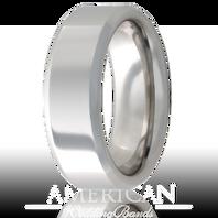 Jewelry Innovations Vitalium® Beveled Edge 8mm Comfort Fit Wedding Ring - V8B