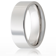 Jewelry Innovations Vitalium® Flat Top 8mm Comfort Fit Wedding Ring - V8P