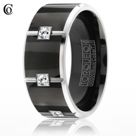 CBB-2130 Black Cobalt Wedding Ring
