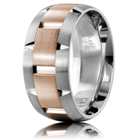 CARLEX WB-9463RW-S 9.5mm 18kt White & Rose Gold