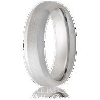 Jewelry Innovations Vitalium® Beveled Edge & Stone Finish 8mm Comfort Fit Wedding Ring - V8B-Stone