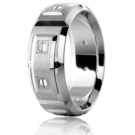 CARLEX WB-9852 8mm Platinum & Platinum Links - Comfort-Fit