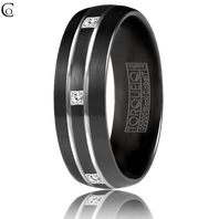TORQUE Black Cobalt Diamond Eternity 7mm Comfort Fit Ring ( .15ct tw)  CBB-2133