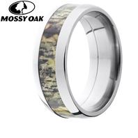 Lashbrook Mossy Oak 8mm Domed Titanium Camo Ring - 8D14