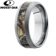 Lashbrook Mossy Oak 8mm Camo Titanium Ring with Beadblast Finish - 8D14-BB