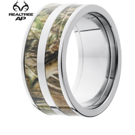 Lashbrook Realtree 10mm Double AP® Camo Titanium Ring - 10F23-AP