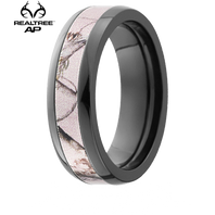 Lashbrook Realtree Pink AP® Camo 6mm Black Zirconium Ring - Z6D13-PINK