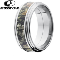 Lashbrook Mossy Oak Camo 9mm Round Edge Titanium Ring - 9REF14-MO