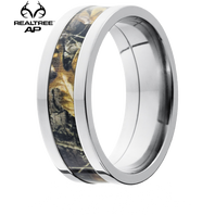 Lashbrook Realtree AP Camo 8mm Titanium Ring - 8F14-RTAP