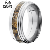 Lashbrook Realtree 9mm AP® Camo Titanium Double Grooved Edge Ring - 9FGG14-MAX4