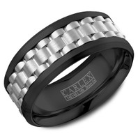 CARLEX CX3-0022WWB 9mm Black Cobalt & 18kt White Gold - Comfort-Fit