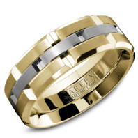 CARLEX WB-9146WY 18kt Yellow & White Gold 7.5mm Comfort Fit Wedding Band