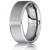 TORQUE by Crown Ring Tungsten Carbide Comfort Fit 8mm Ring - TU-0013