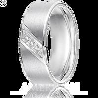Triton 22-2953C 8mm Tungsten Diagonal Diamond Wedding Band (.10 ct)