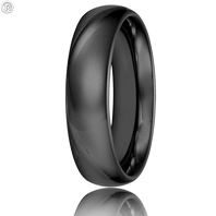 Triton 11-2134BC 6mm Black Tungsten Carbide Comfort Fit Wedding Band