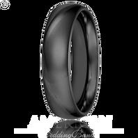 Triton 11-2134BC 6mm Black Tungsten Carbide Comfort Fit Wedding Band
