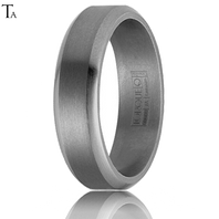 Tantalum 6mm Bevel Edged Comfort Fit Ring by TORQUE - TA-001-6M