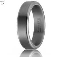 Tantalum 6mm Flat Stepped Edged Comfort Fit Ring by TORQUE - TA-002-6M