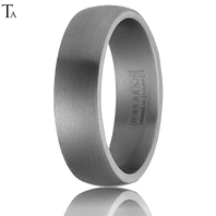 Tantalum 6mm Domed Comfort Fit Ring by TORQUE - TA-003-6M