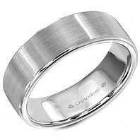 LB-9599 Light Weight 7mm 14kt White Gold Comfort Fit Ring
