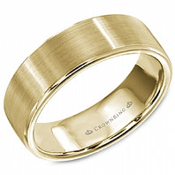 LB-9599Y Light Weight 7mm 14kt Gold Comfort Fit Ring