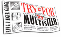 Free ring finger multisizer