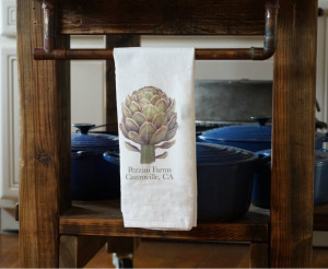 Pezzini Farms Artichoke Flower Sack Towel