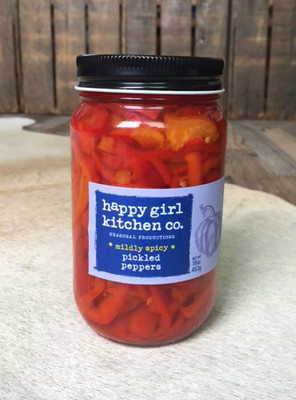 Happy Girl Kitchen - Mildly Spicy Pickled Peppers