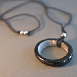Dark Hoop Necklace