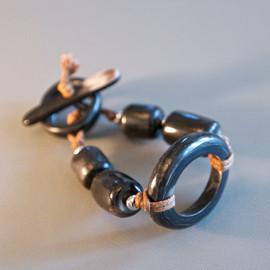 Hoop & Bead Bracelet - Dark