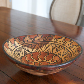 Hand Carved African Wooden Bowl - Large