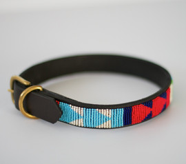 Maasai Beaded Dog Collar - Multi