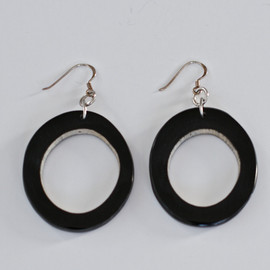 Horn Hoop Earrings - Dark