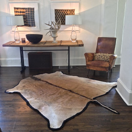 Eland Hide Rug - felted backing