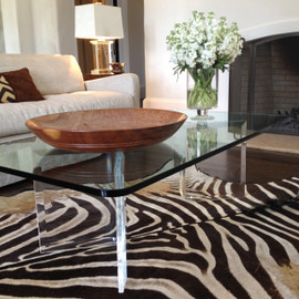 V-shaped Acrylic Coffee Table Bases - 3/4 inch