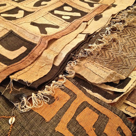 Raffia Kuba Cloth Textile Runners - large