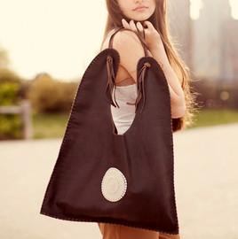 Dira brown maasai leather handbag