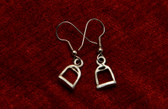 Pewter Stirrup Drop Earrings