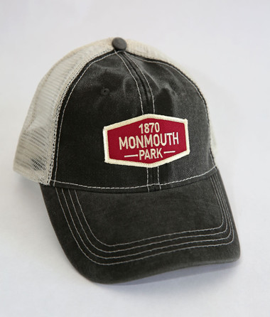 Monmouth Park Trucker Cap with Patch.