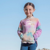 Girls Angel Terry Tie-Dye Pullover