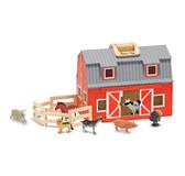 Melissa & Doug Wooden Fold & Go Barn