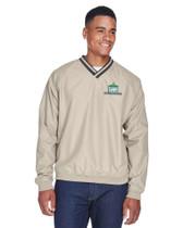 Khaki/Navy Windshirt