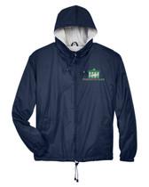 Hooded Full Zip Windbreaker Jacket