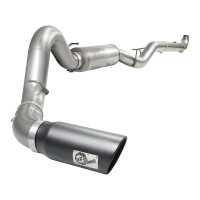 """aFe POWER 49-44033-B Large Bore-HD 5"""" 409 Stainless Steel Down-Pipe Back Exhaust System"""