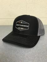 Black/Charcoal Snap Back Trucker Hat