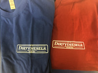 Blue and Red DirtyDiesels Logo T-Shirt