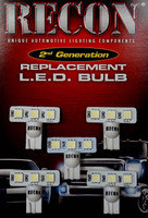 Recon White LED Cab Light Bulbs