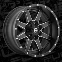 D538 Fuel Maverick Black and Milled 5x5.5