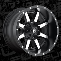 D537 Fuel Maverick Black Machined